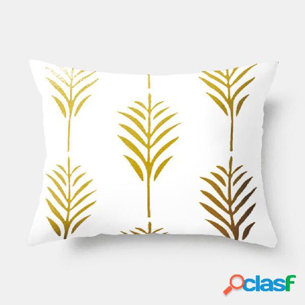 Fronha ins nordic style custom gold folha sofá travesseiro cintura capa de almofada estilo hot style moda decoração para