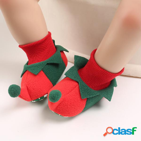 Sapatos de bebê para criança fofos e confortáveis. soft botas elásticas com meia palhaço