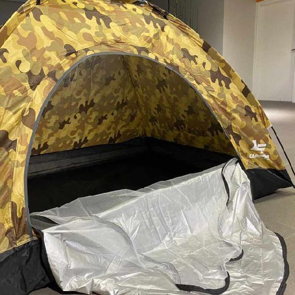 Barraca acampamento para 1 pessoa ao ar livre - camuflada