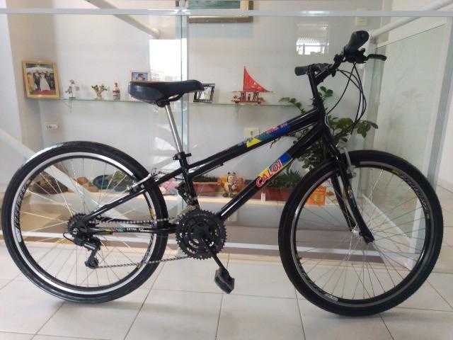 Bicicleta caloi - aro 26 - 21 marchas - revisada e pronta