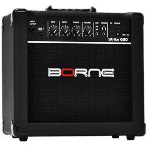 Caixa cubo amplificado guitarra borne strike g30 preto 15 w