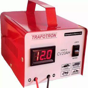 Carregador bateria carro moto 20ah 12v flutuante cv20