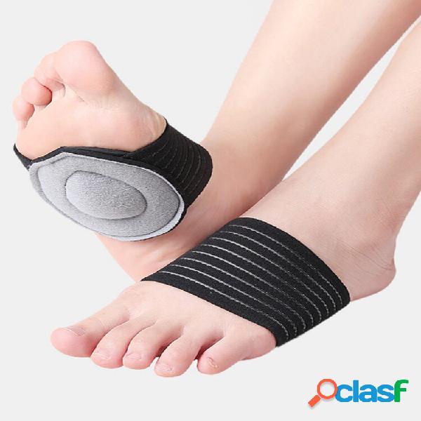 Almofada protetora do arco do pé unissex respirável absorvente de suor Corrida esportiva para reduzir o estresse Atadura