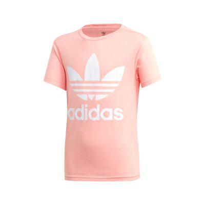 Camiseta adidas trefoil rosa infantil