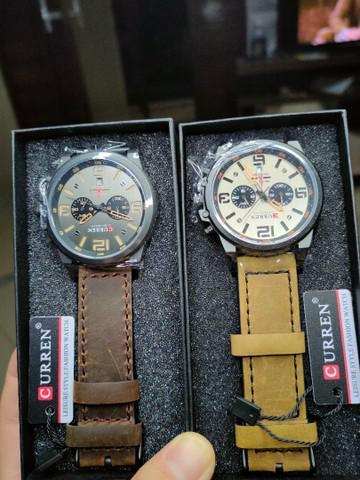 Relógio curren 8314 quartzo relógio de couro
