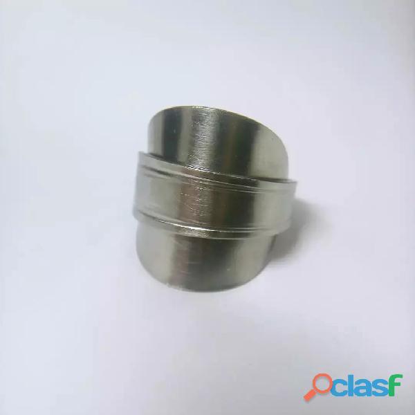 Anel de colher prata aço alpaca 5