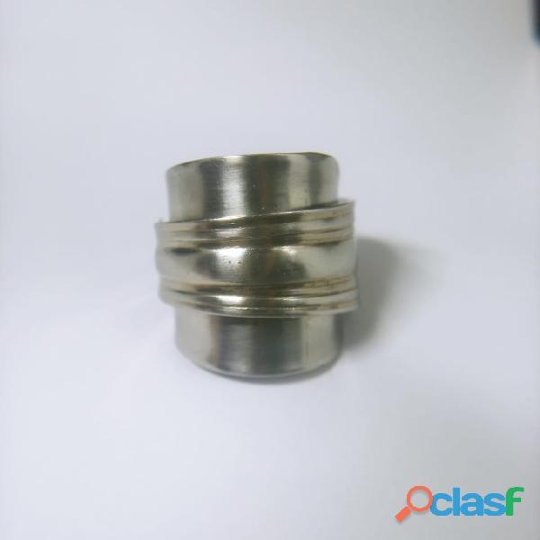Anel de colher prata aço alpaca 9