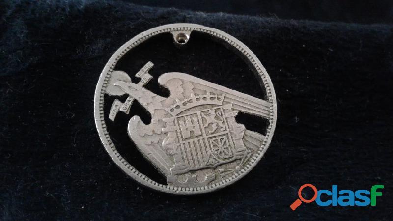 Anel de colher prata aço alpaca 12