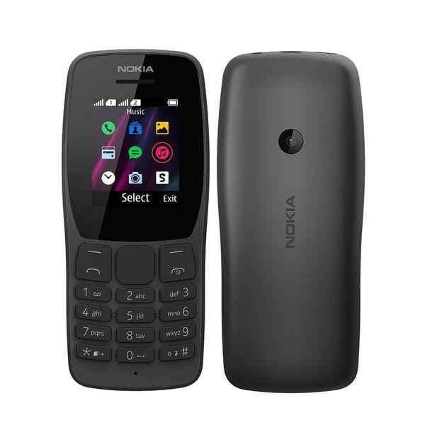 Celular nokia 110 nk006 preto - dual sim, câmera vga, 4