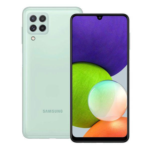 Samsung galaxy a22 verde, câmera quádrupla, tela 6.4',