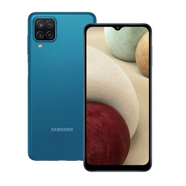 Smartphone a12 a127m azul, tela 6.5/