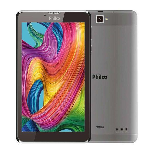 "Tablet 7/"" ptb7ssg cinza, android 9.0, memória interna"