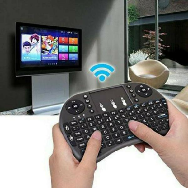 Mini teclado wireless touch para tv smart rgb