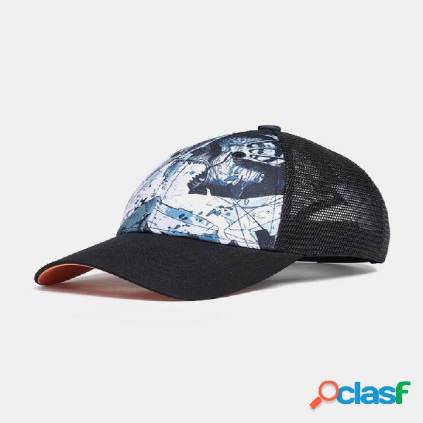 Homens e mulheres hokusai wave padrão estampa casual respirável ao ar livre para viagens de beisebol chapéu
