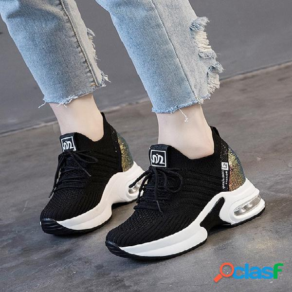 Sapatos de malha respirável sapatos casuais