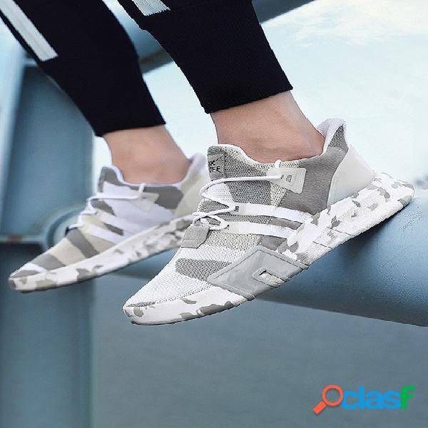 Sapatos de malha respirável estilo coreano masculino