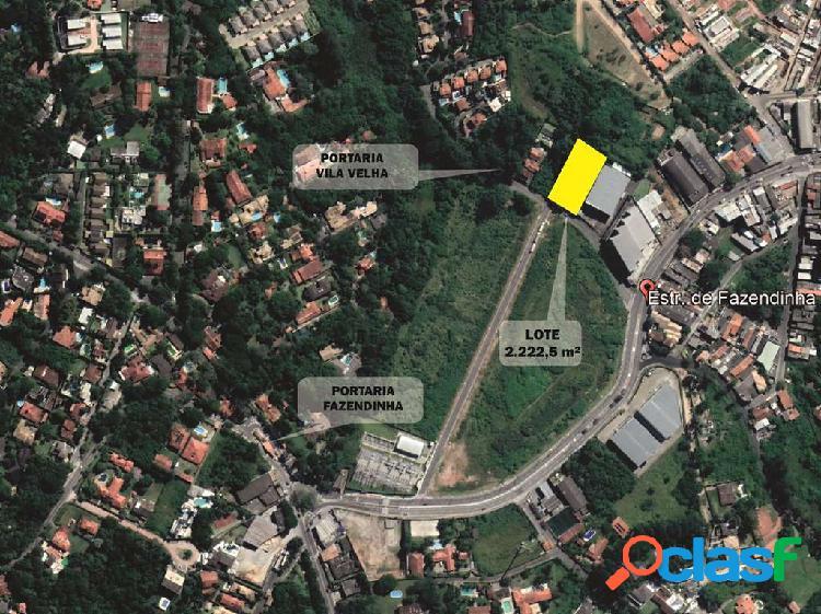Terreno Portaria do Vila Velha - 2.222 m² p/ Prédio ou Galpão