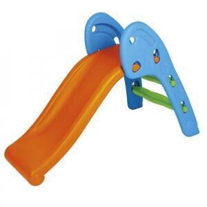 Escorregador infantil 2 degraus homeplay laranja e azul <div