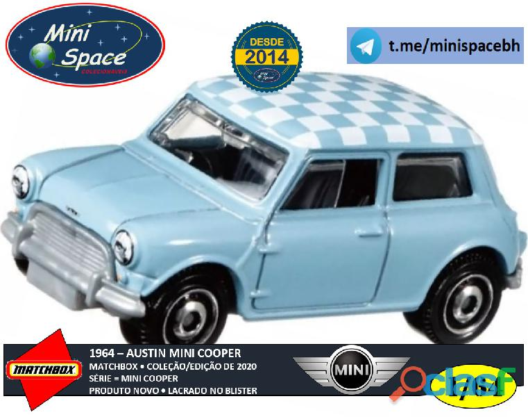Matchbox 1964 Austin Mini Cooper Azul 1/64