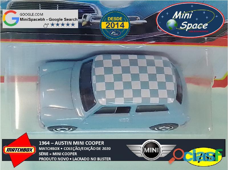 Matchbox 1964 Austin Mini Cooper Azul 1/64 11