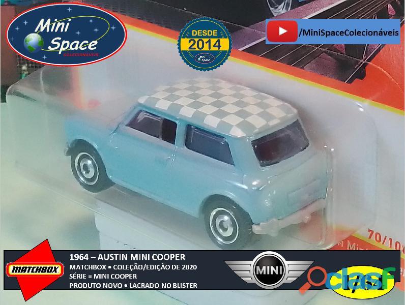 Matchbox 1964 Austin Mini Cooper Azul 1/64 9