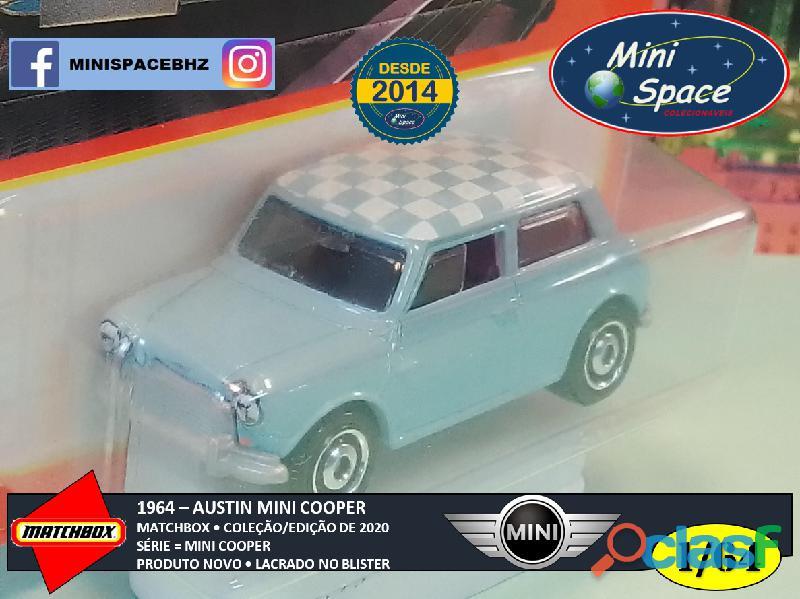 Matchbox 1964 Austin Mini Cooper Azul 1/64 7