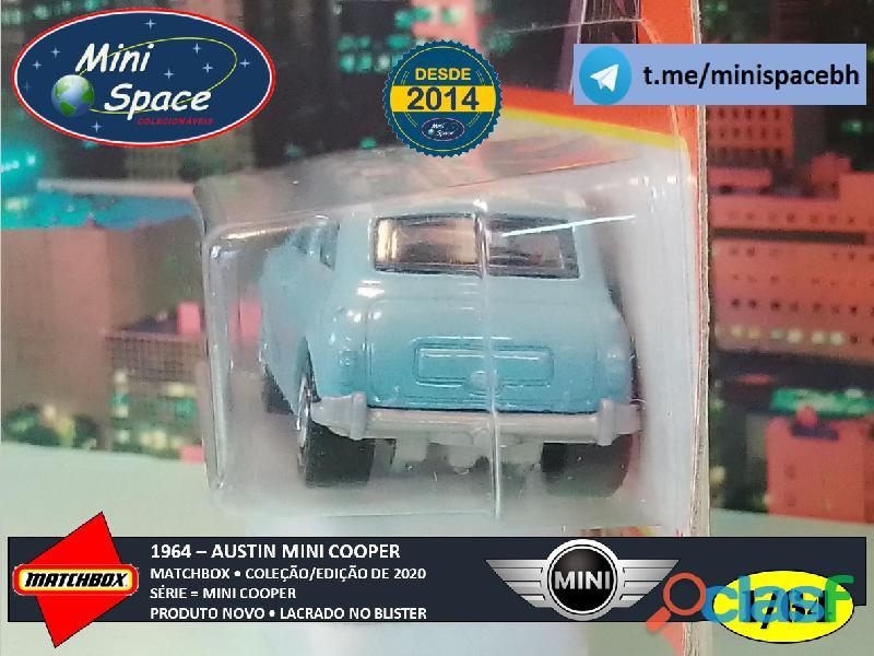 Matchbox 1964 Austin Mini Cooper Azul 1/64 8