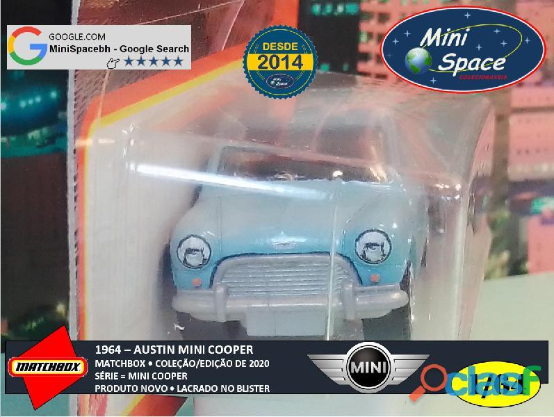 Matchbox 1964 Austin Mini Cooper Azul 1/64 1