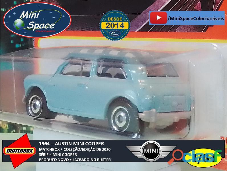 Matchbox 1964 Austin Mini Cooper Azul 1/64 2