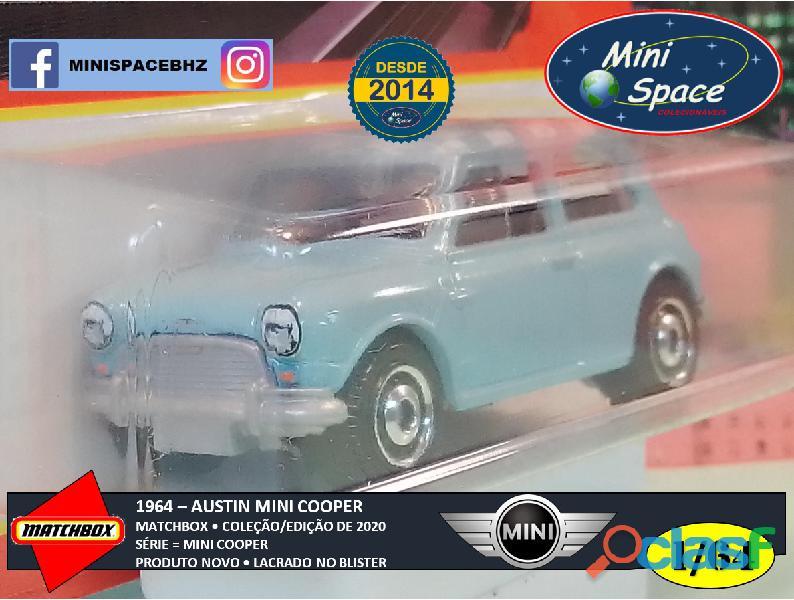 Matchbox 1964 Austin Mini Cooper Azul 1/64 3