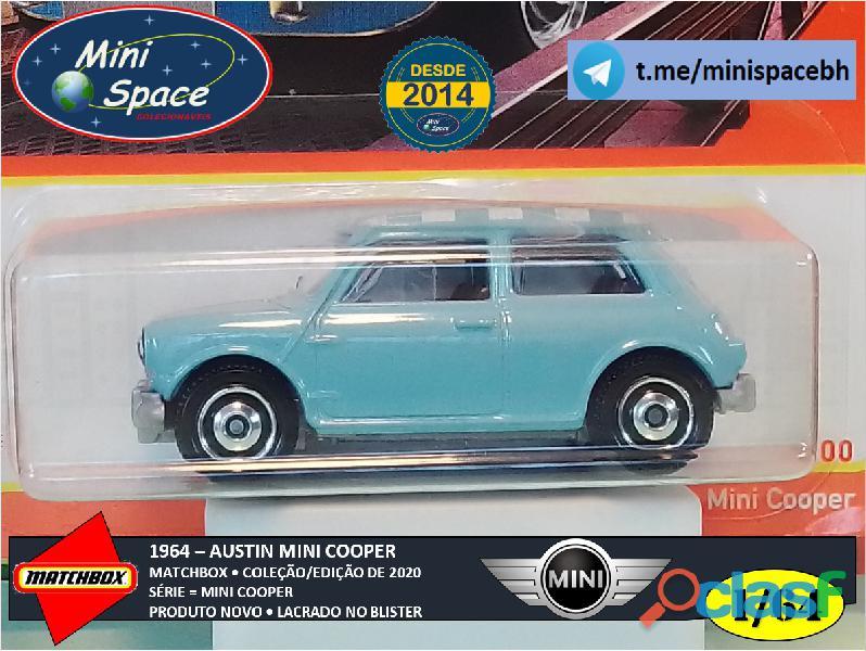 Matchbox 1964 Austin Mini Cooper Azul 1/64 4