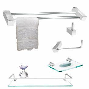 Acessórios banheiro proteção 5 peças incolor clean