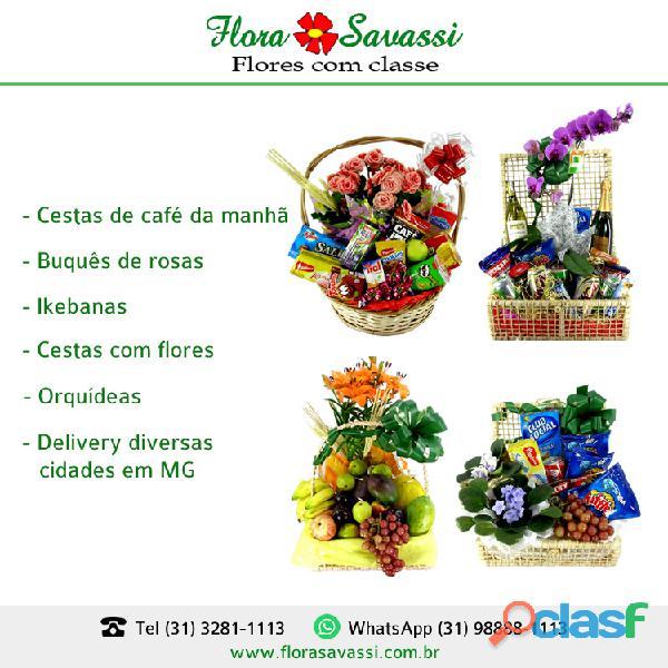 Cesta de café da Manhã em Ouro Preto, Pará de Minas, Baldim, Barão de Cocais MG (31) 98888 1113