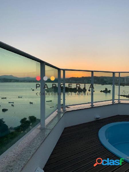 Cobertura duplex vista mar à venda no abrão - residencial villa doratta
