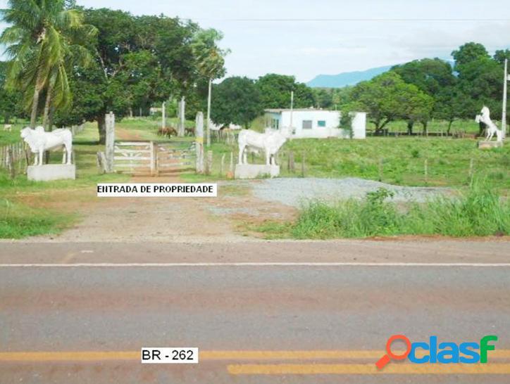 Fazenda para pecuária, 7.900 hectares, corumbá - ms