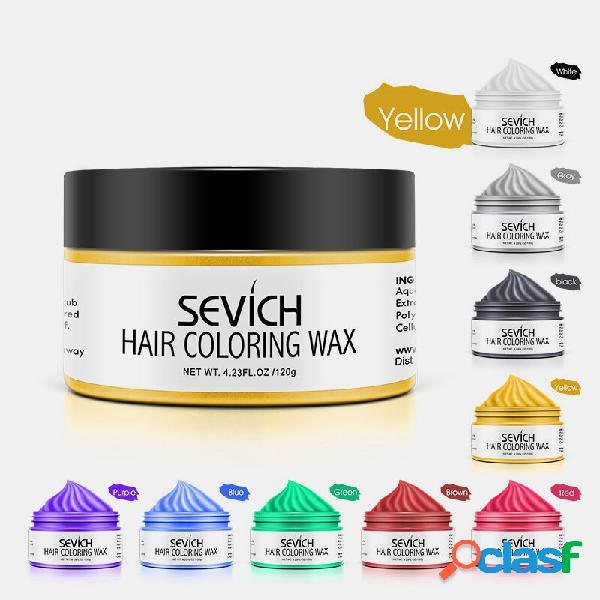 9 cores descartáveis cabelo cera colorida unissex cor quick styling cabelo argila diy dye cream