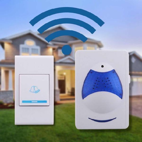 Campainha sem fio residencial wireless a pilha