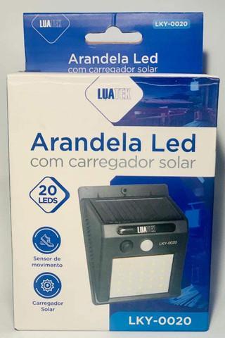 Luminária led arandela solar 20 leds com sensor de