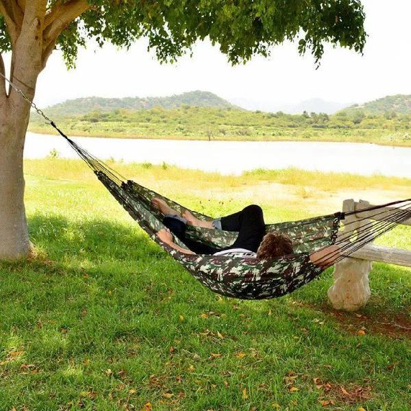 Rede De Descanso Dormir Camuflada Exercito Camping
