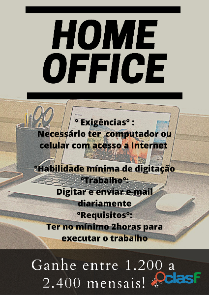 Home office trabalho onlind