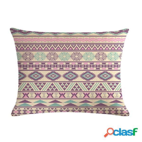 Fronha bohemian impresso criativo linho algodão capa de almofada decoração de sofá casa capa de almofada
