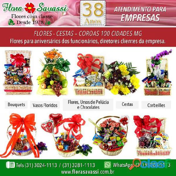 Condomínio lagoa santa mg floricultura entrega arranjo de flores cesta de café da manhã e orquídeas