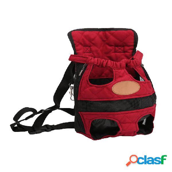 Mochila de viagem para animais de estimação 3 cores respirável frontal cachorro cat front bolsa carrier outdoor