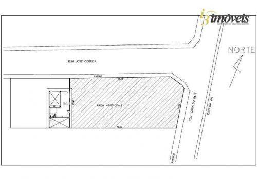 Terreno para alugar, 800 m² por r$ 12.000,00/mês -
