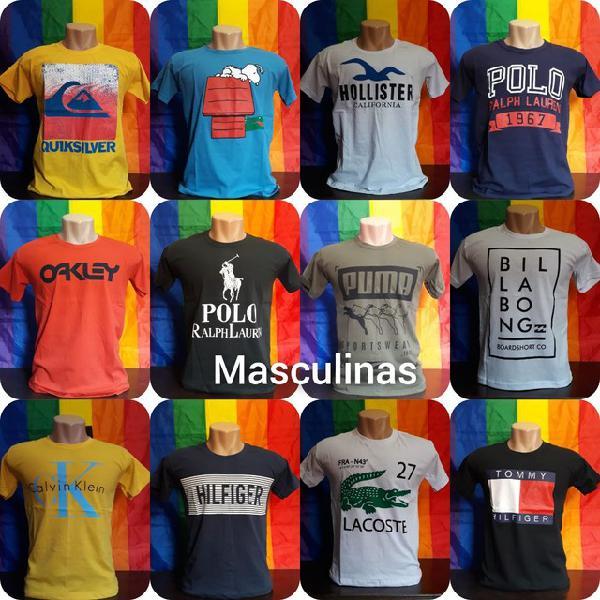 Camisetas personalizadas diversas marcas
