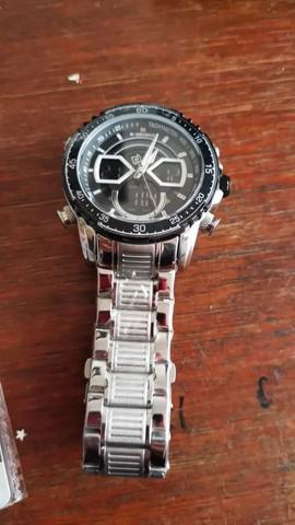 Relógio naviforce original prata