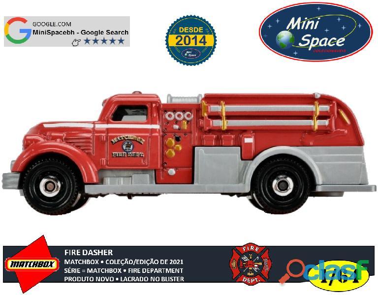 Matchbox Fire Dasher Bombeiro cor Vermelho 1/64