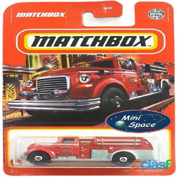 Matchbox Fire Dasher Bombeiro cor Vermelho 1/64 4