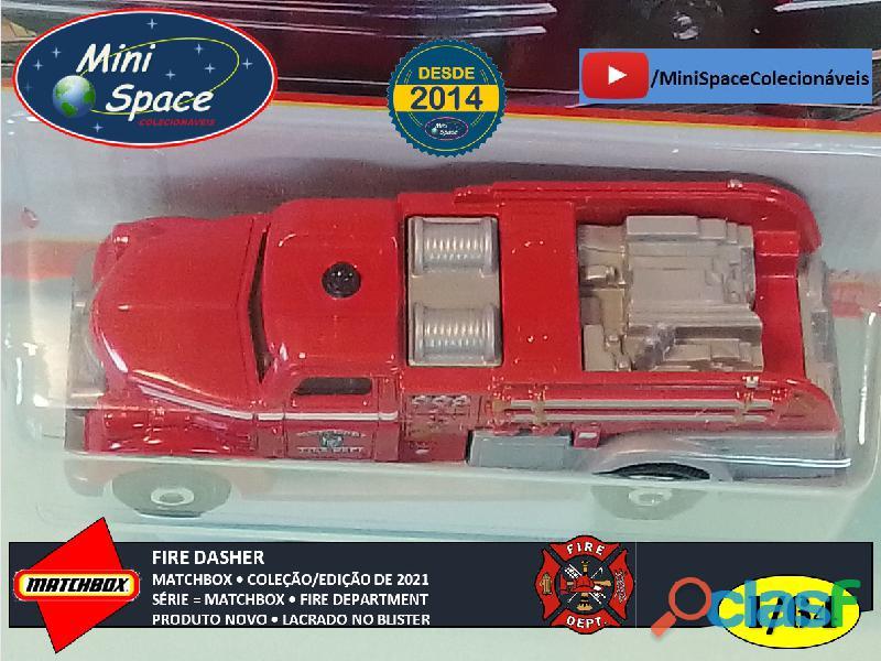 Matchbox Fire Dasher Bombeiro cor Vermelho 1/64 3