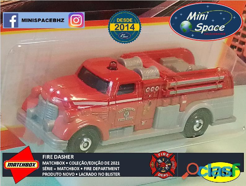 Matchbox Fire Dasher Bombeiro cor Vermelho 1/64 2